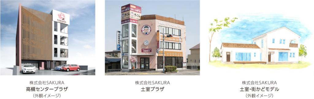 新社屋完成イメージ(CG)、土室プラザ(旧さくらビル)、土室街かどモデル